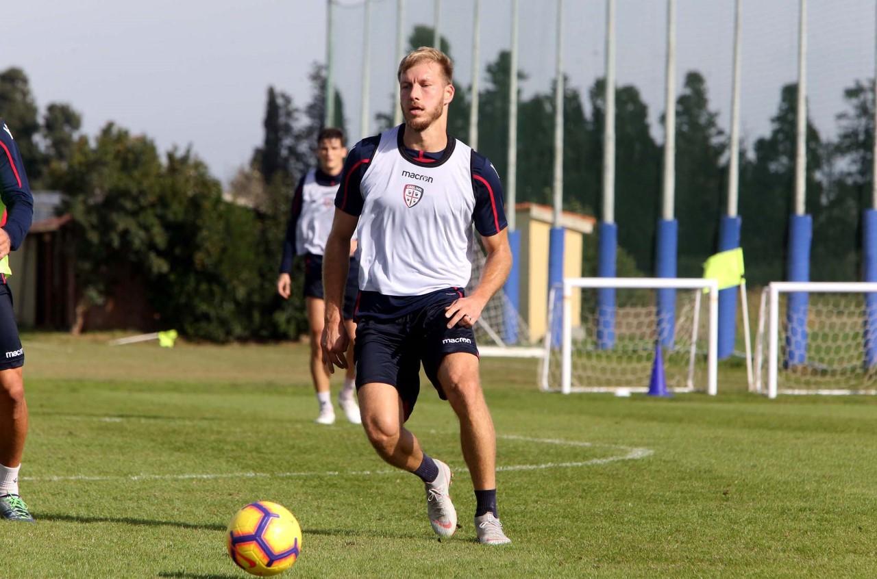 Allenamento Cagliari, Ragnar Klavan. Media Day
